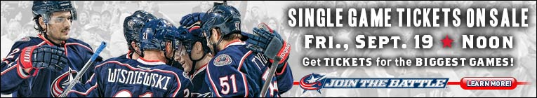 CBJ Single Tickets On sale