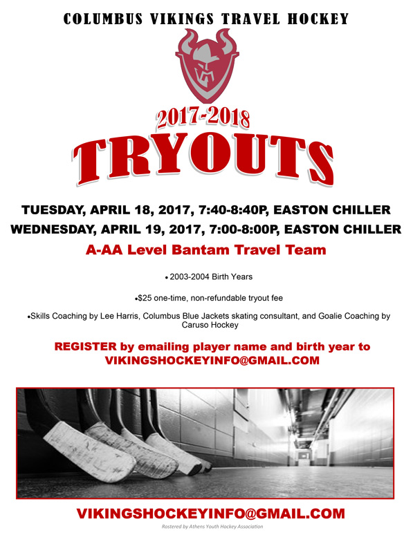 Columbus Vkings Travel Hockey Tryouts
