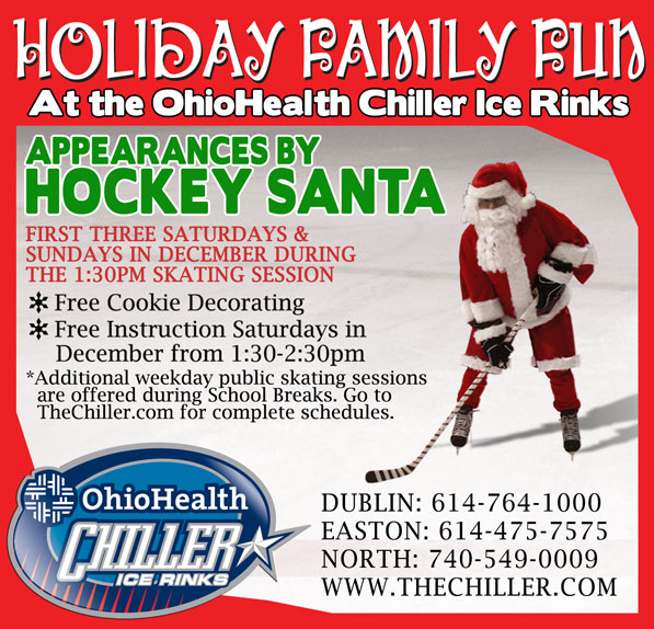 Family Holiday Fun at the OhioHealth Chiller Ice Rinks