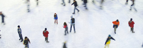 Image Of A Group Of People Enjoying The Ice Skating Rink - The Chiller