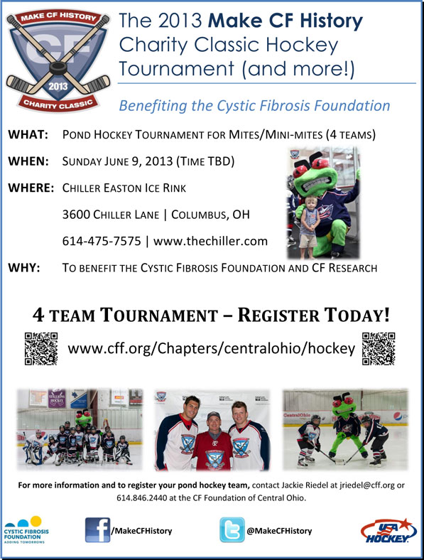 Make CF History Kids Pond Hockey Tournament