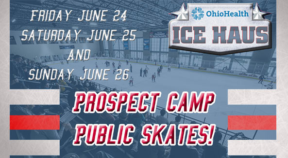 Come watch the Jackets prospects and ice skate between their sessions!